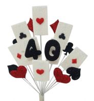 Vegas 40th birthday cake topper decoration - free postage